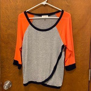 Monteau quarter sleeves shirt size large brand new